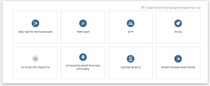 גוגל אדוורדס ממשק פנימי