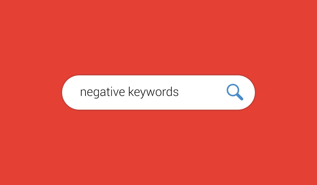 מילות מפתח שליליות
